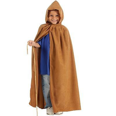 KIDS CHILDRENS GIRLS BOYS CHILDS LONG HOODED HALLOWEEN CLOAK CAPE HOOD AGE 6-9