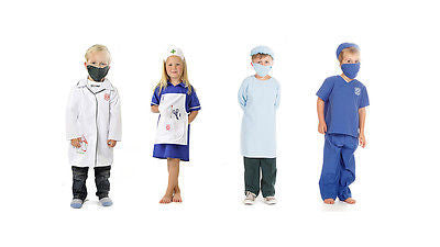 KIDS CHILDRENS BOYS GIRLS CHILDS HOSPITAL ROLE PLAY HERO COSTUME OUTFIT AGE 3-7