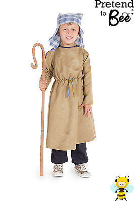 KIDS CHILDRENS CHILDS BOYS NATIVITY SHEPHERD FANCY DRESS COSTUME OUTFIT AGE 3-7