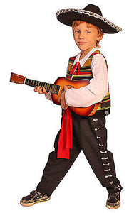 KIDS BOYS CHILDS DELUXE MEXICAN MARIACHI CULTURAL COSTUME OUTFIT AGE 4-6-8-10