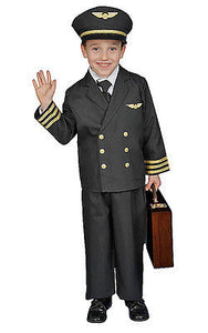BOYS DELUXE AIRLINE PILOT COSTUME