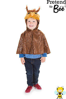 KIDS BROWN OWL CAPE COSTUME