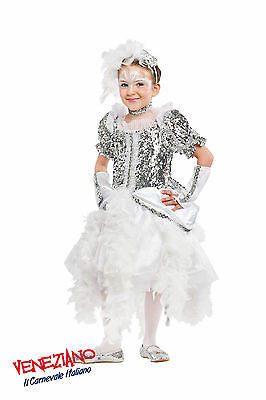 GIRLS DELUXE SPARKLY WHITE SWAN LAKE BALLET DANCER BALLERINA COSTUME OUTFIT 5-6