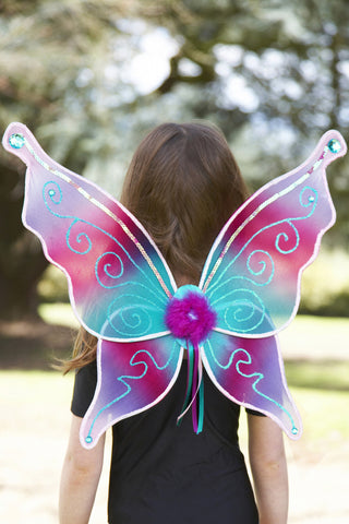 CHILDRENS AQUAMARINE FAIRY WINGS