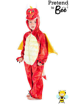 KIDS RED DRAGON COSTUME