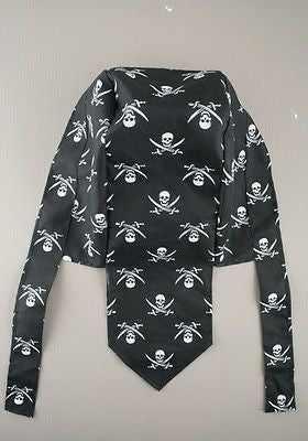 CHILDRENS KIDS GIRLS BOYS PIRATE PARTY SKULL BANDANNA FANCY DRESS UP SCARF HAT
