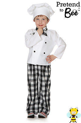 CHILDRENS CHEF COSTUME WITH HAT