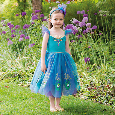 GIRLS PEACOCK FAIRY COSTUME