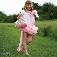 GIRLS RIDE ON FLAMINGO COSTUME