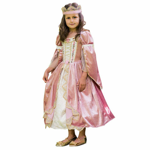 GIRLS DELUXE MEDIEVAL PINK PRINCESS COSTUME