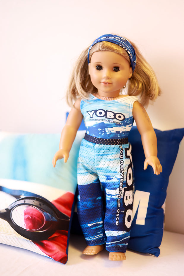 AG Doll YOBO Swim Pants and Headband