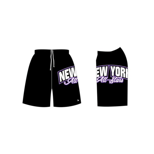 New York All-Stars Men's Cheer Shorts in Black