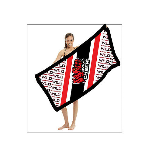 Wild About Cheer Shammy Beach Towel