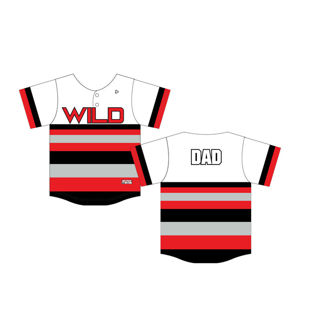 Wild About Cheer Baseball Fan Jersey