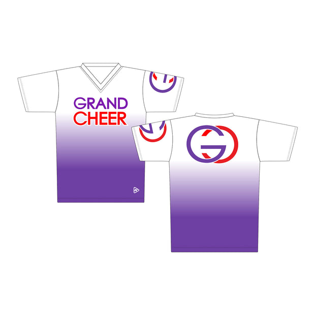 Grand Cheer Purple Athletic V-Neck Tee