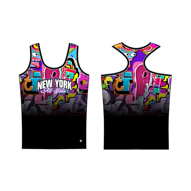 New York All-Stars Graffiti Women's Fitted Tank