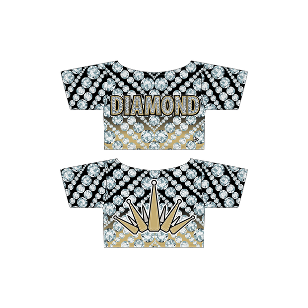 Diamond Athletics Cropped Flash Tee