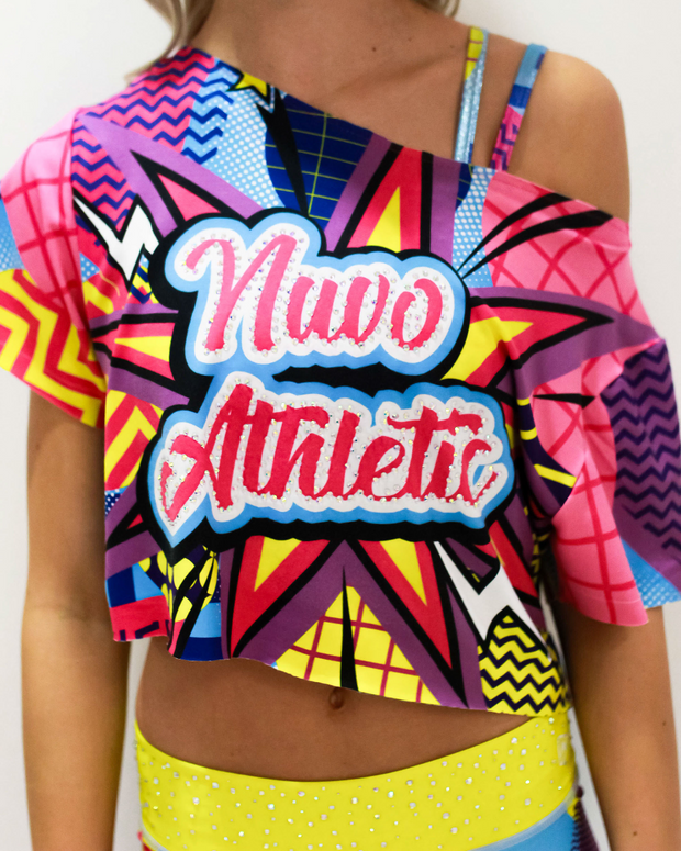 Totally Awesome Cropped Flash Tee