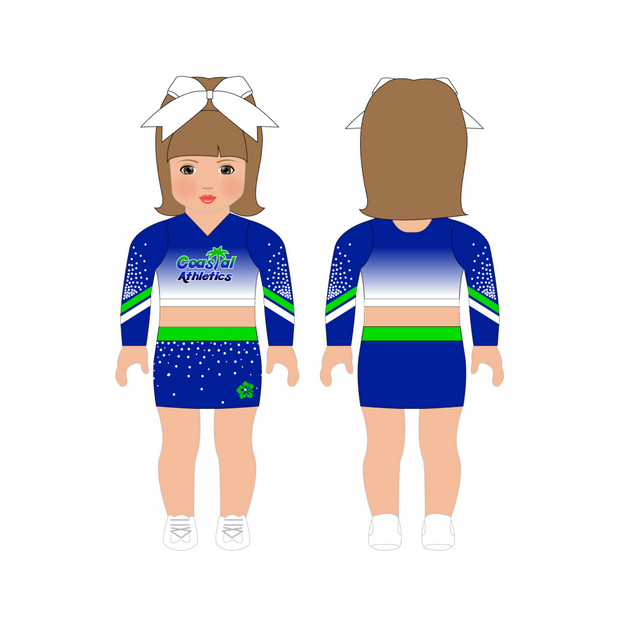 Coastal Athletics AG Doll Uniform Set