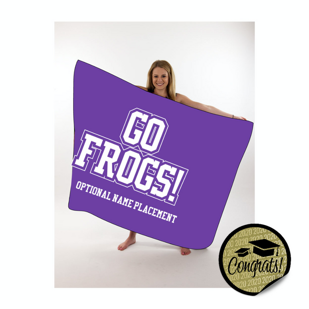 Go Frogs Large Throw Blanket
