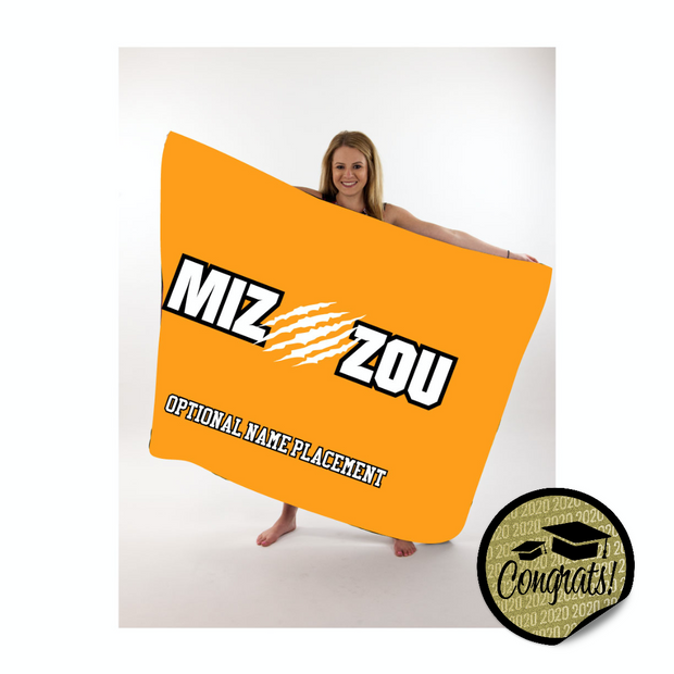 Mizzou Large Throw Blanket