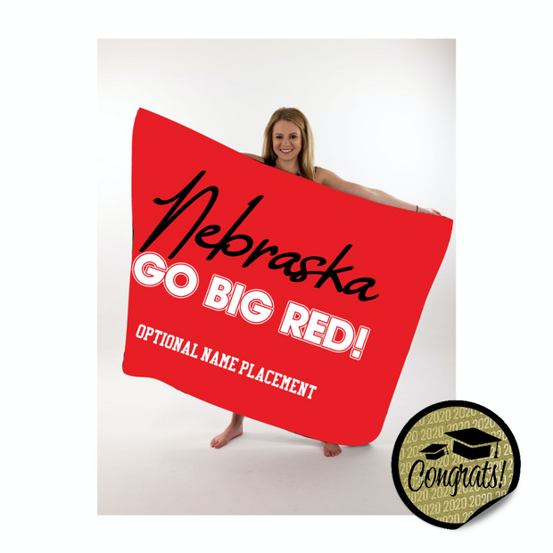 Nebraska Large Throw Blanket