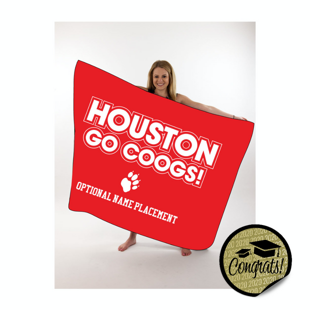 Coogs Large Throw Blanket