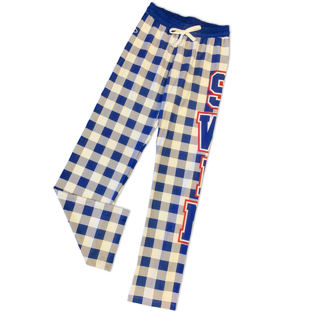 Checkered Swim PJ Pants in Blue