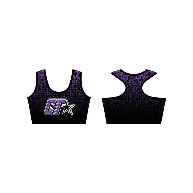 Cheer Trixx Kourtney Sports Bra in Purple