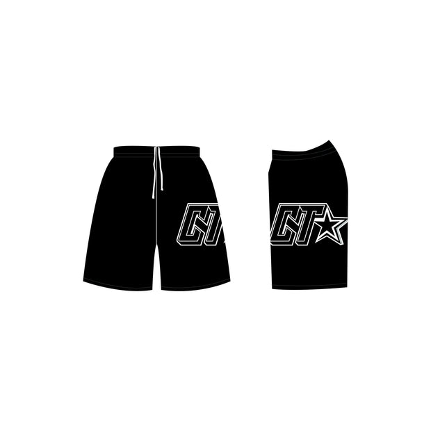 Cheer Trixx Men's Cheer Shorts in Black