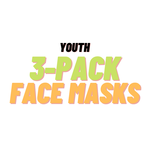 YOUTH 3 Pack Face Masks - Random Designs