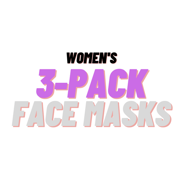 WOMEN'S 3 Pack Face Masks - Random Designs