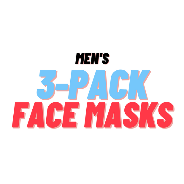 MEN'S 3 Pack Face Masks - Random Designs