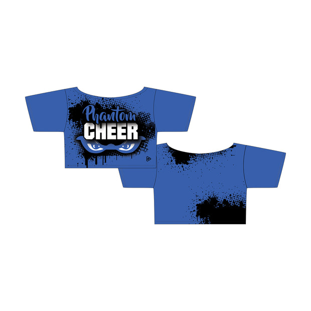 Phantom Cheer Cropped Flash Tee