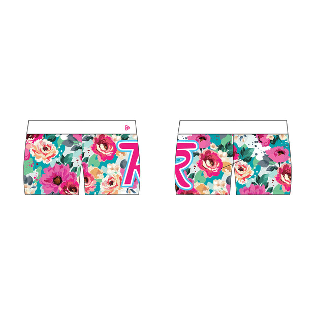 The Ranch Cheer and Tumble Floral Fierce Active Shorts
