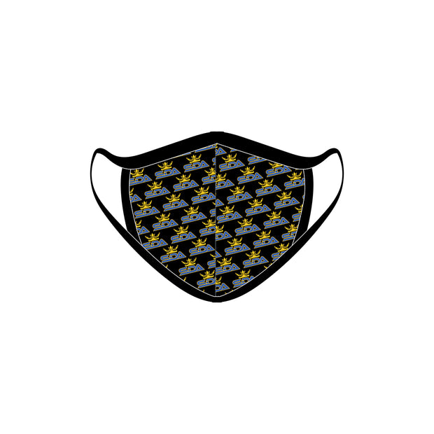 Synergy Dance Academy Black Face Shield with Ear Loops