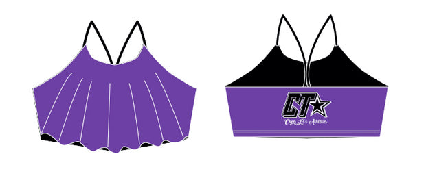 Cheer Trixx Athletics Ruffle Swim Top