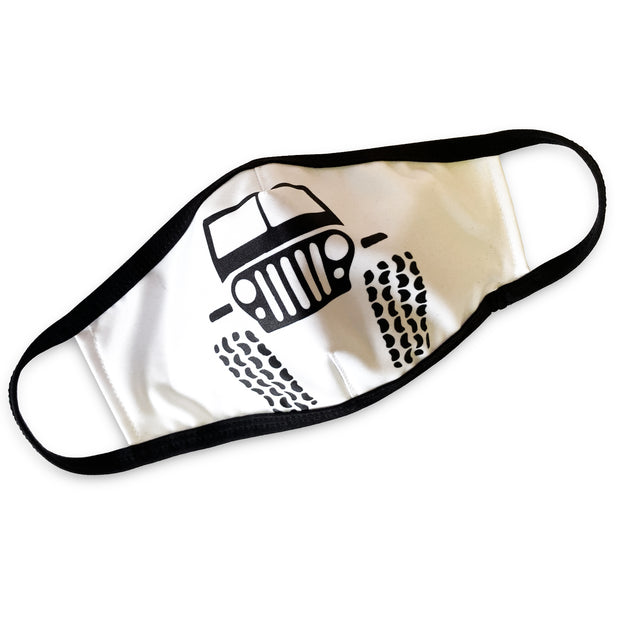 Off Roader Face Mask in White