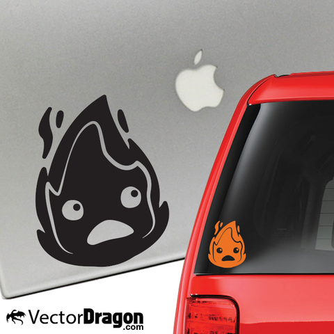 Powerful Fire Demon Vinyl Decal