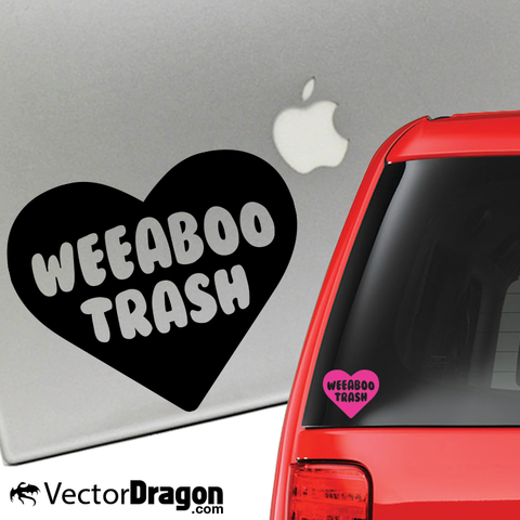 Weeaboo Trash Heart Vinyl Decal