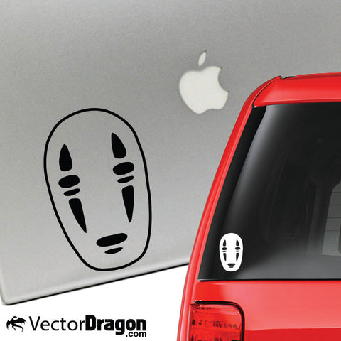 No Face Vinyl Decal