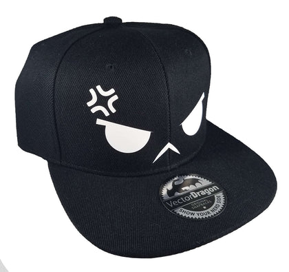 Angry Face Snapback Hat