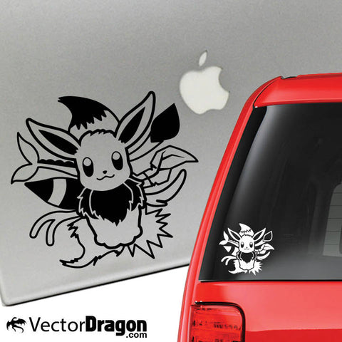 Nine Tailed Eeveelution Vinyl Decal