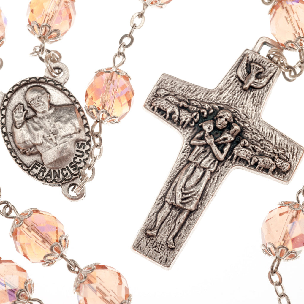 Well-liked CRYSTAL ROSARY OF POPE FRANCIS 10 mm – Galleria Mariana EF65