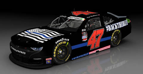 NASCAR Driver No. 47 Kyle Weatherman #BackTheBlue