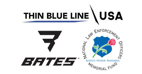 Thin Blue Line USA & Bates Footwear give back