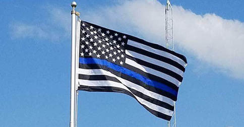 A Reflection on the Thin Blue Line American Flag