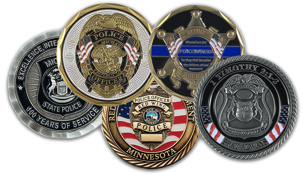 Custom Challenge Coins - Thin Blue Line USA