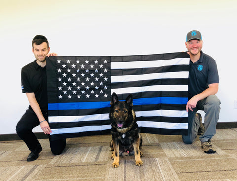 Founder and President Andrew Jacob (left) & Jason Johnson from Project K-9 Hero (right)