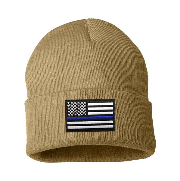 Thin Blue Line Flag Embroidered Winter Hat - Thin Blue Line USA 8afcabb5737